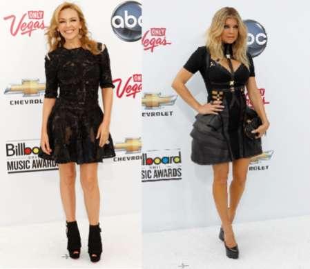 Fergie e Kylie Minogue scelgono lo stile Alexander McQueen