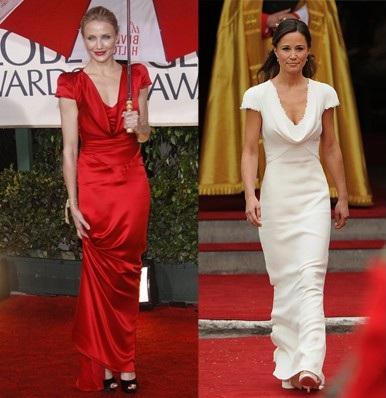 Abito Alexander McQueen: Pippa Middleton o Cameron Diaz?
