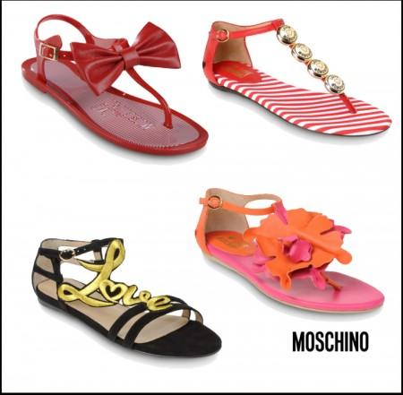 Piedi comodi e colorati con i nuovi sandali Moschino
