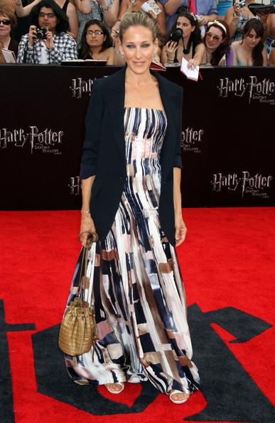 Sarah Jessica Parker elegante in un abito Oscar De La Renta alla premiere di Harry Potter