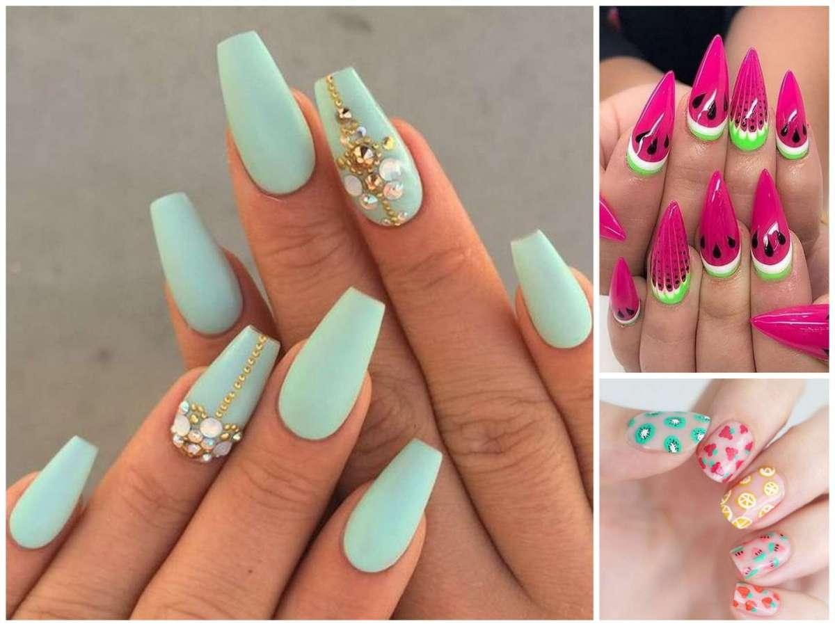 Unghie gel per l'estate, le nail art e decorazioni più belle