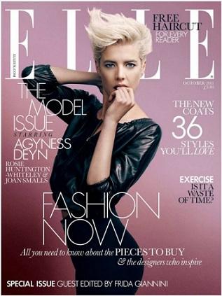 Agyness Deyn Elle UK October2011