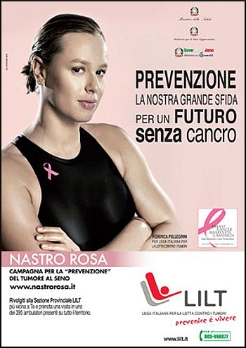 Federica Pellegrini campagna Il nastro rosa