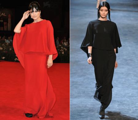 Selma Blair al Festival del Cinema di Venezia con un abito Lanvin