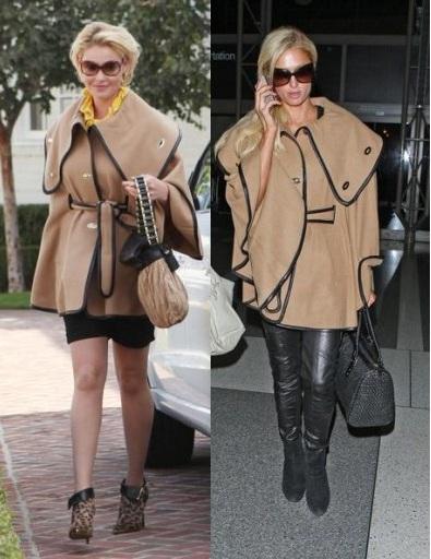 Katherine Heigl paris hilton cappotto