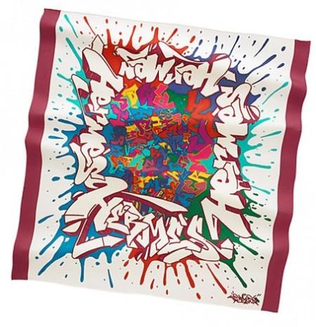 foulard hermes graffiti