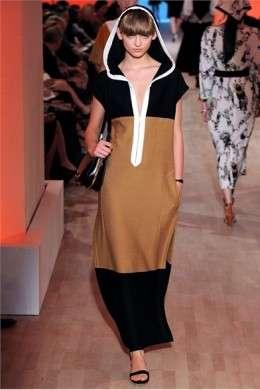 Hermes Parigi PE 2012 tunica con cappuccio