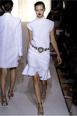 Yves Saint Laurent Parigi PE 2012 abito corto bianco c
