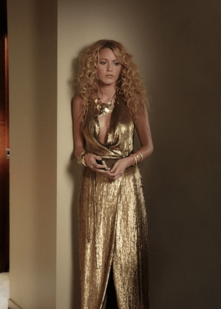 Blake Lively indossa un abito da sera Diane Von Furstenberg nella quinta stagione di Gossip Girl