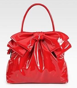 valentino borsa vernice rossa