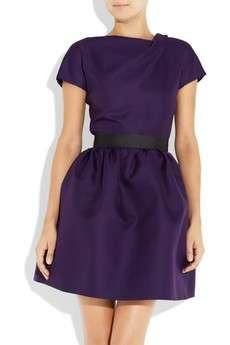 Victoria Beckham per net a porter abito viola indossato