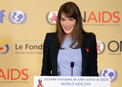 Carla Bruni lotta AIDS