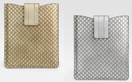 Gucci GG Metallic Leather Case for iPad