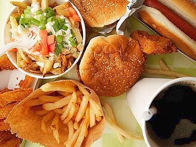 fast food cibo