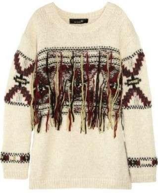 Il maglione lana e frange di Isabel Marant che piace alle star