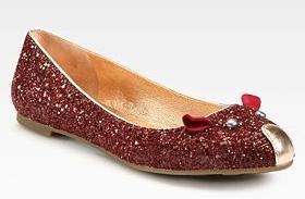 marc by marc jacobs ballerine glitter