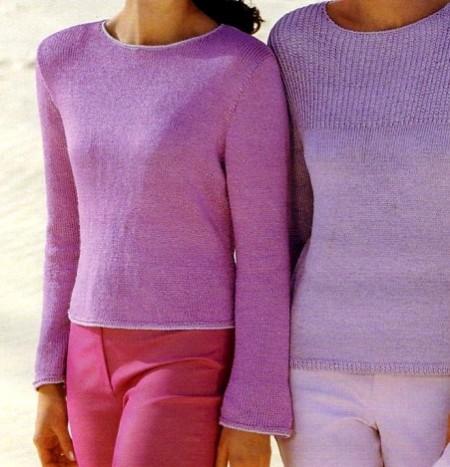 Lavori a maglia per creare una maglia sciancrata in microfibra