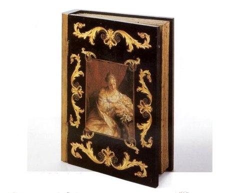 Scatola libro decoupage legno