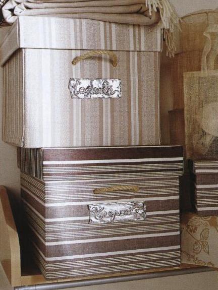 Cucito facile: scatole ricoperte con tessuti fantasia