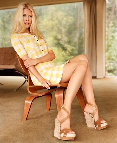 Claudia Schiffer Gypsy Dress