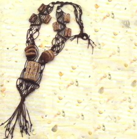 Collana bijoux fai da te nodi macramè