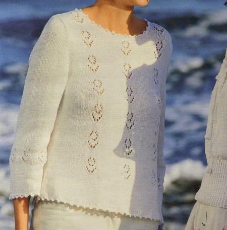 Lavori a maglia: crea un pullover con fiori a punto ajour