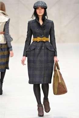 Burberry Prorsum AI 2012 13 London cappotto quadri cin