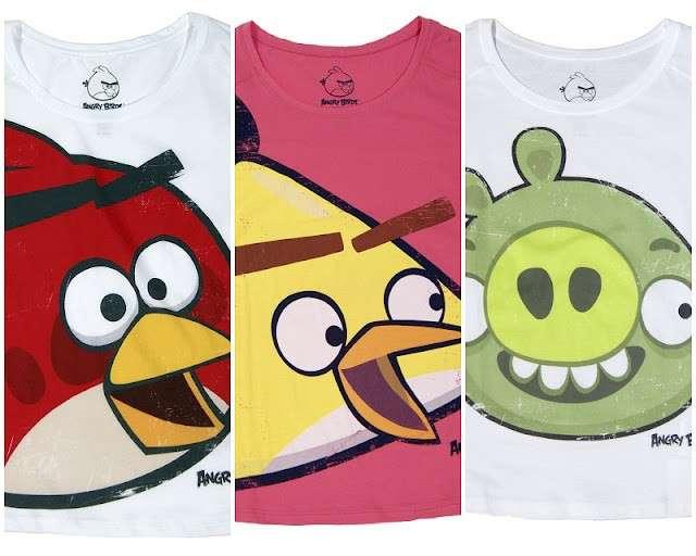 Bershka le t shirt con gli Angry Birds