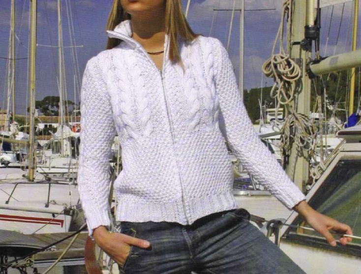 Lavori a maglia per realizzare una giacchina alla moda