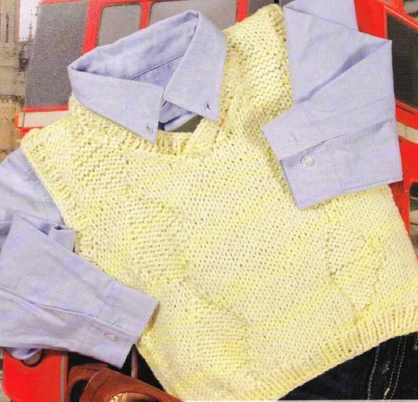 Crea un gilet per il tuo bambino con i lavori a maglia