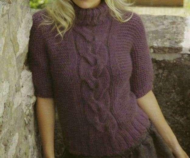 Lavori a maglia per creare un soffice dolcevita [FOTO]