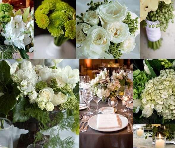 Addobbi di fiori per il matrimonio in bianco