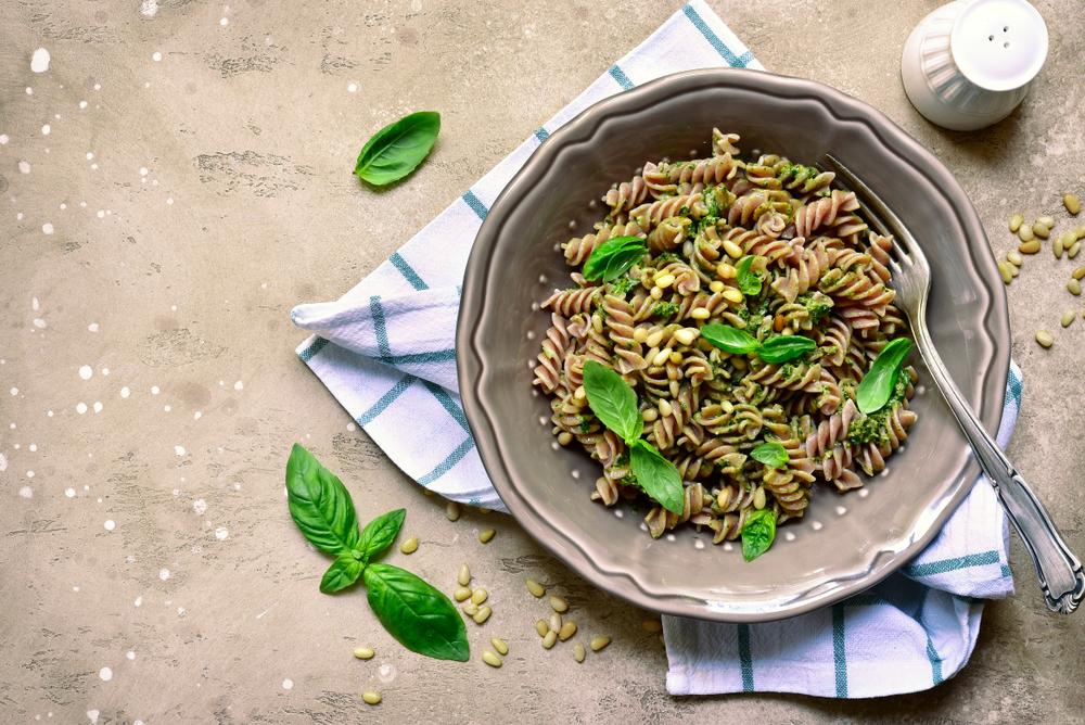 ricette vegane fusilli basilico e olive