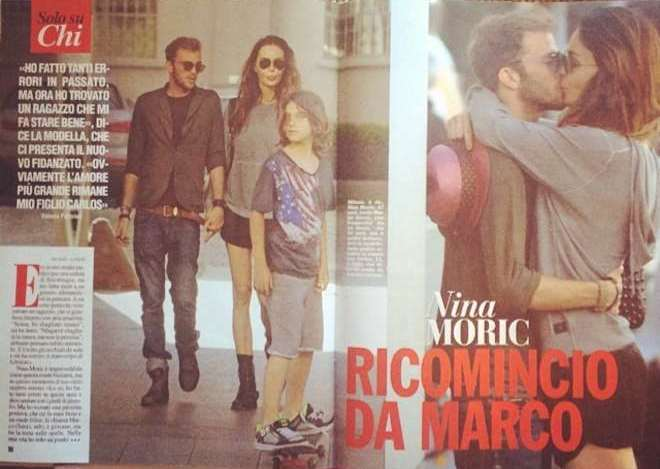 Nina Moric e Marco Serici insieme