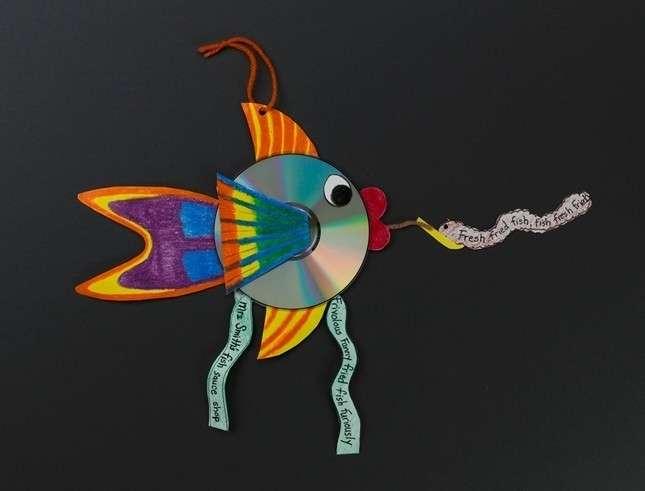 Pesce colorato con cd