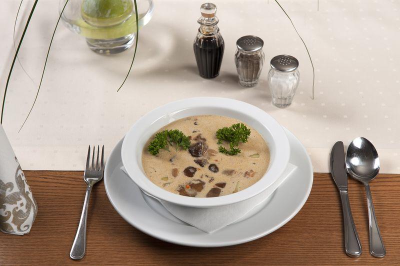 Zuppa di porcini, patate e porri, ricetta light
