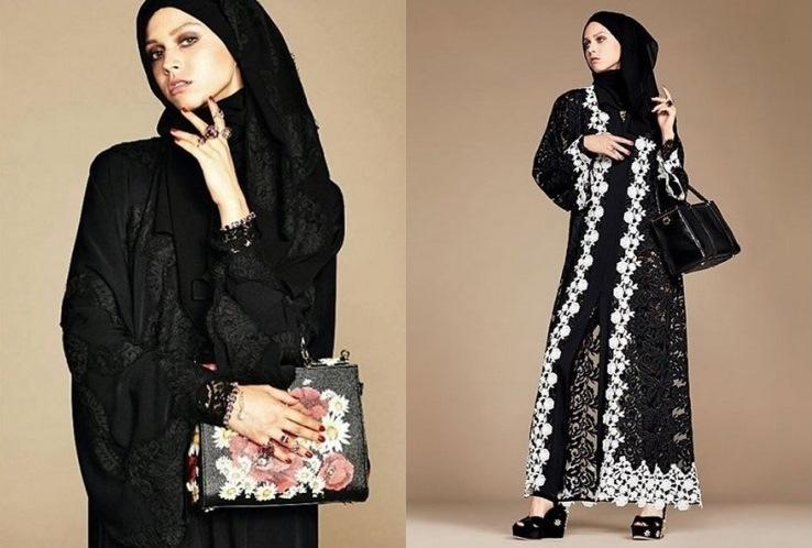 Dolce e Gabbana lanciano Abaya la prima collezione per donne musulmane islamiche foto news