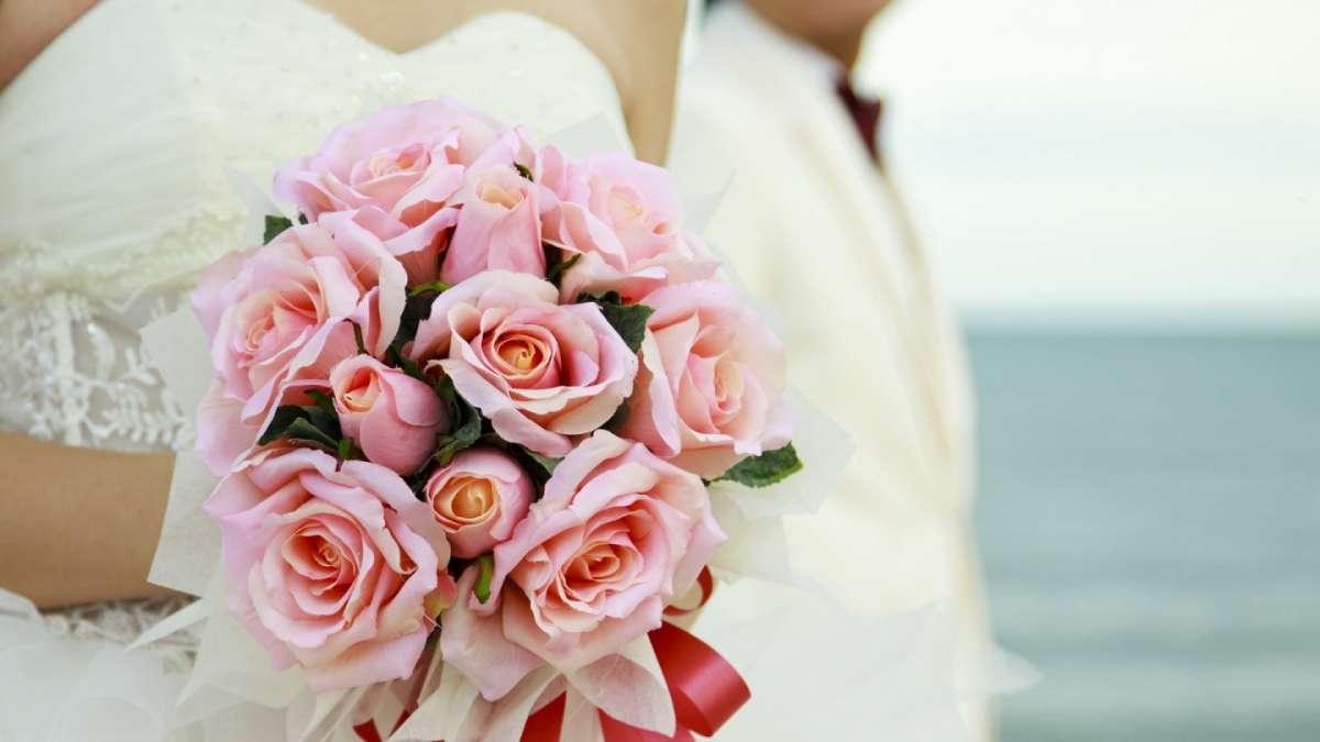 Bouquet rosa semplice
