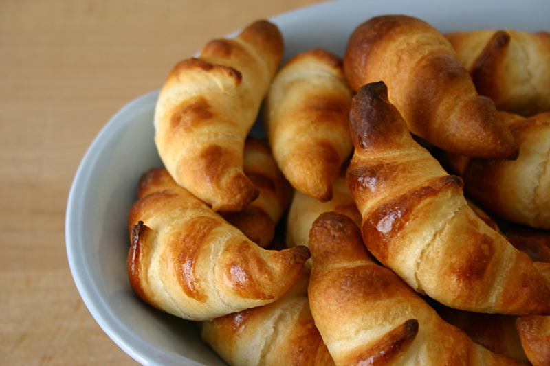 Mini croissant per la colazione, ricetta light