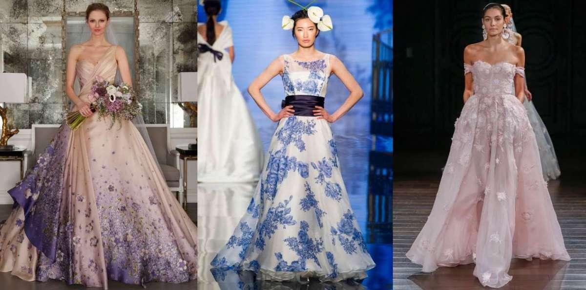 Abiti da sposa colorati 2017: le proposte più fashion e romantiche [FOTO]