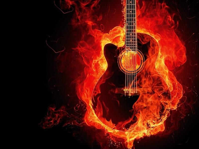 Chitarra fuoco