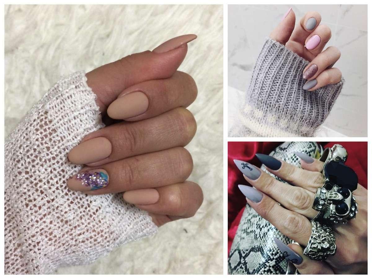 Matte nails il trend dello smalto opaco per unghie