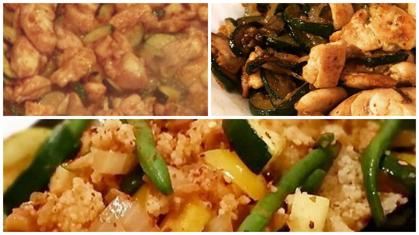 petto di pollo soia e verdura con cous cous