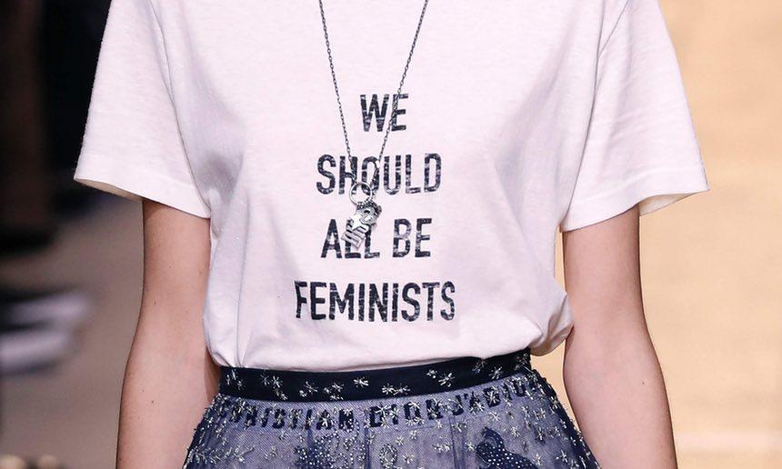T shirt femminista Dior