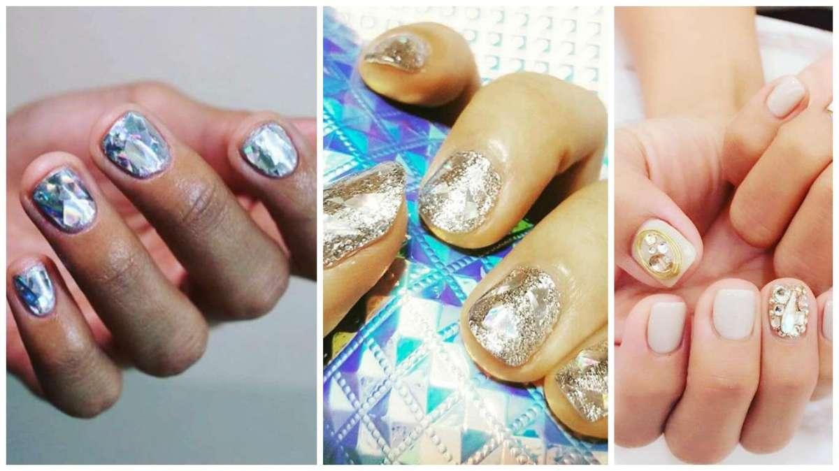 Unghie diamante: le idee più glamour per la nuova tendenza delle #diamondnails [FOTO]