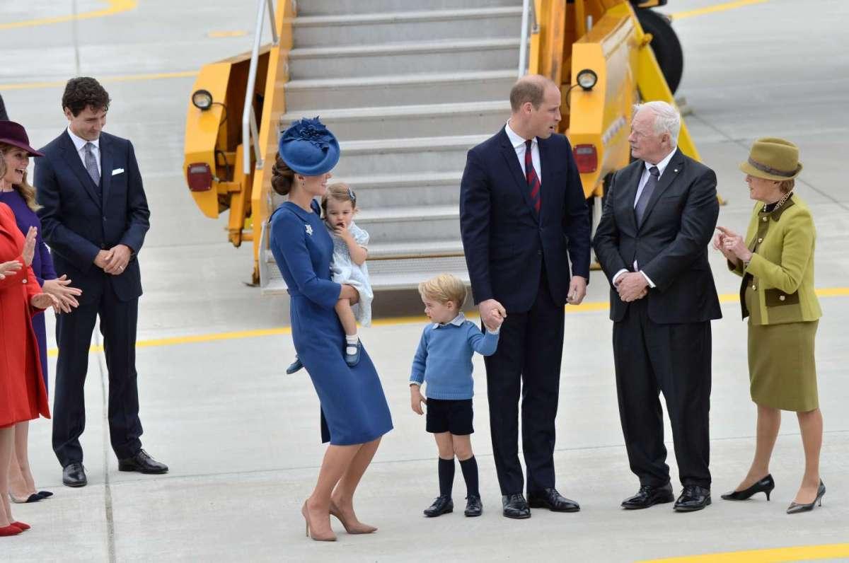Kate Middleton e il principe William con i figli Charlotte e George