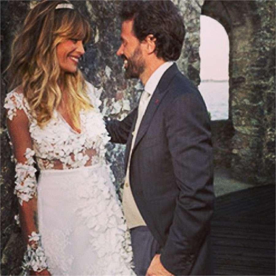 Elenoire Casalegno e Sebastiano Lombardi sposi nel giorno del matrimonio