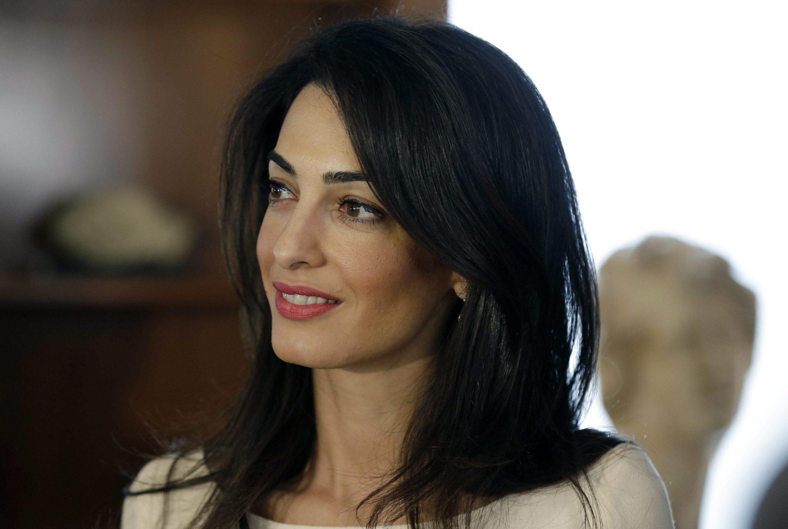 Lawyer Amal Alamuddin Clooney visits Athens