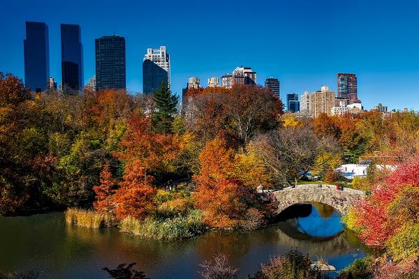 Central Park New York autunno