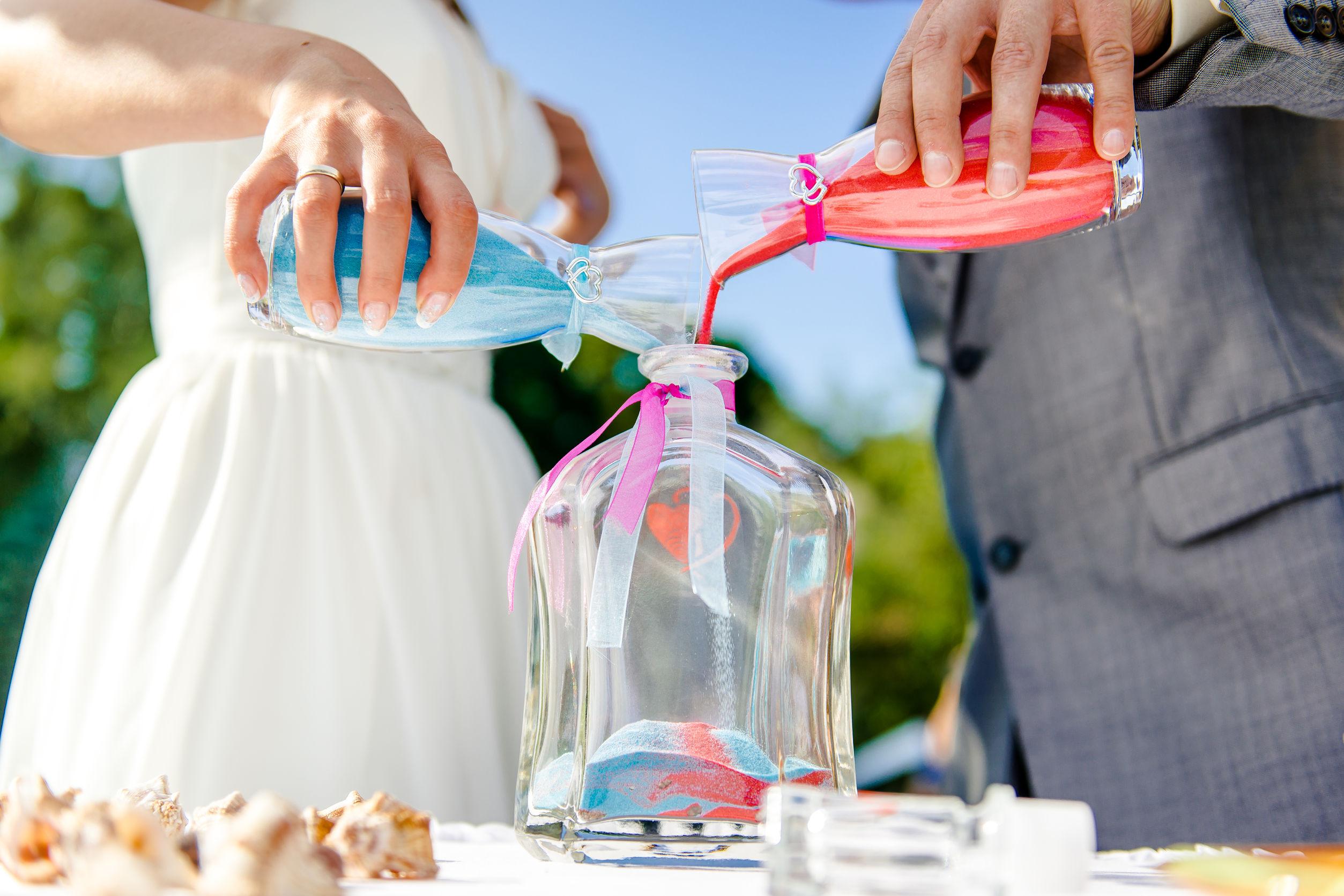Il rito della sabbia per il matrimonio: origini, formula e significato